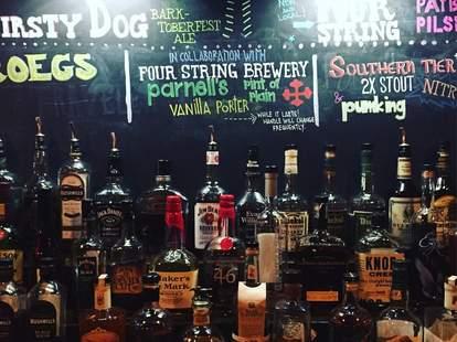 Parnells Pub interior bottles