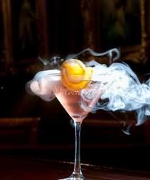 Champagne Nitrotini cocktail