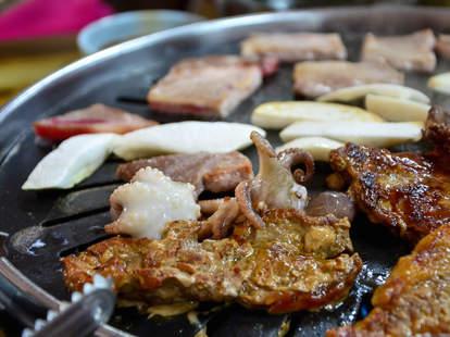 korean barbecue, barbecue, korean food