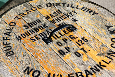 buffalo trace bourbon barrel