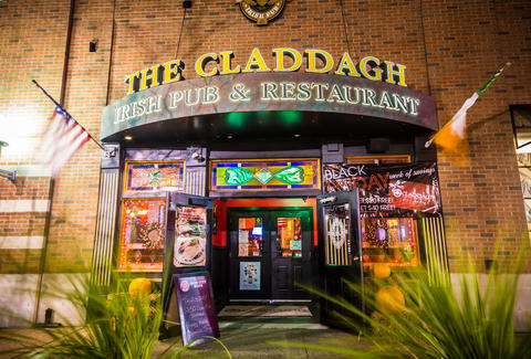 Exterior of The Claddagh bar