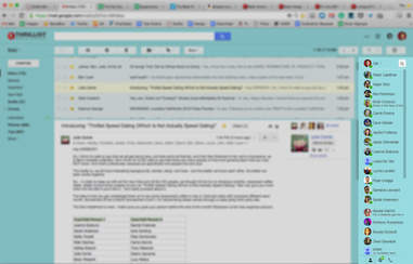 Gmail inbox with right side chat