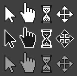 pixelated mouse cursors