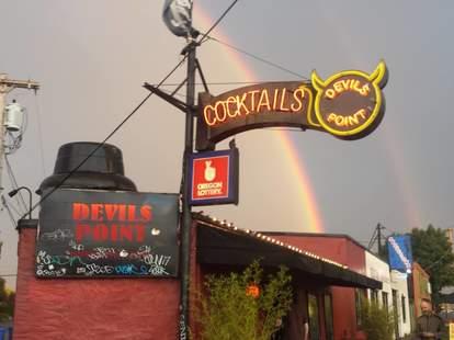 Devils Point bar in Portland