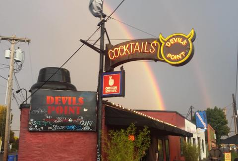 Devils Point bar in Portland