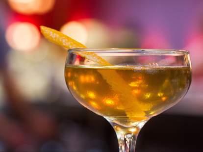 The Charred Orange-Wood Alaska #1 at Trifecta Tavern in Portland