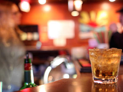 whisky on the rocks, dive bar