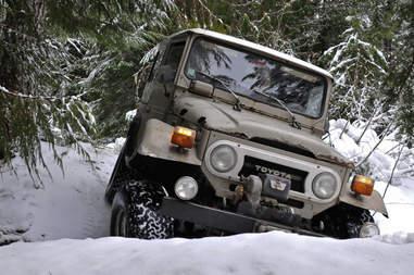 Toyota FJ 40 in the snow