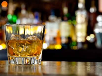 whiskey, whiskey glass, whiskey on the rocks