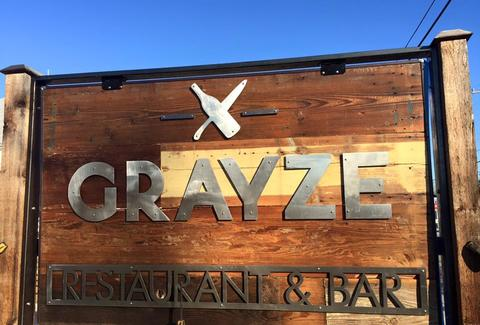 sign outside of grayze