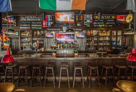 The Brockway Public House interior indy irish bar beer stools