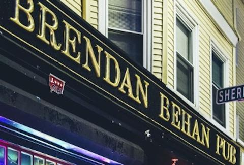 Exterior of Brendan Behan Pub in Jamaica Plain