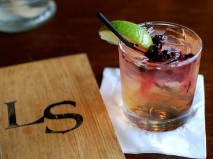 The Liquor store cocktail on napkin