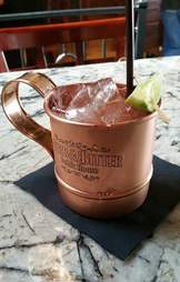 moscow mule at herb and bitter