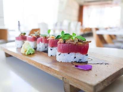 Sushi at Departure Portland