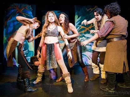 Hideout Theatre actors tribal