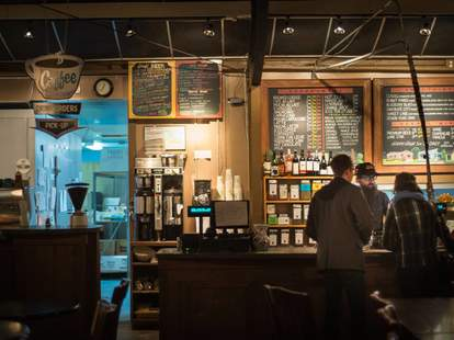 Cherrywood Coffeehouse interior austin tx