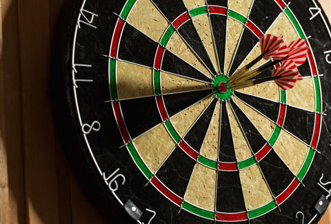 dart board, darts