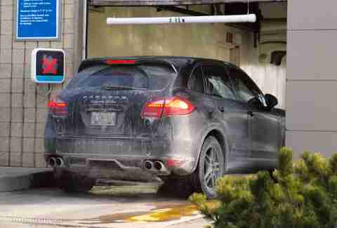 Why car washes are bad for your car thrillist porsche in a car wash solutioingenieria Choice Image