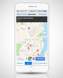 OpenMBTA app, map apps