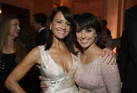 Constance Zimmer at party
