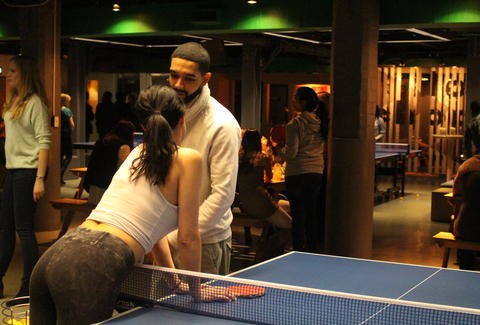 ping pong with drake lookalike