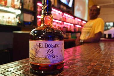 Bottle of El Dorado rum
