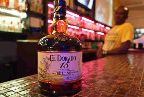 Bottle of El Dorado rum
