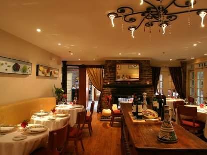 Interior of Restaurant Eve