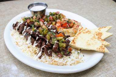 Kan Zaman kebab plate