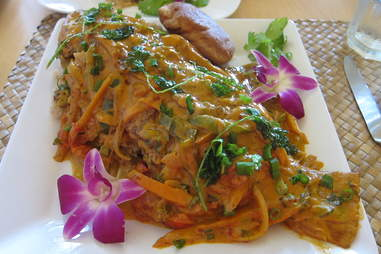 Steamed Box Fish with Coconut Curry