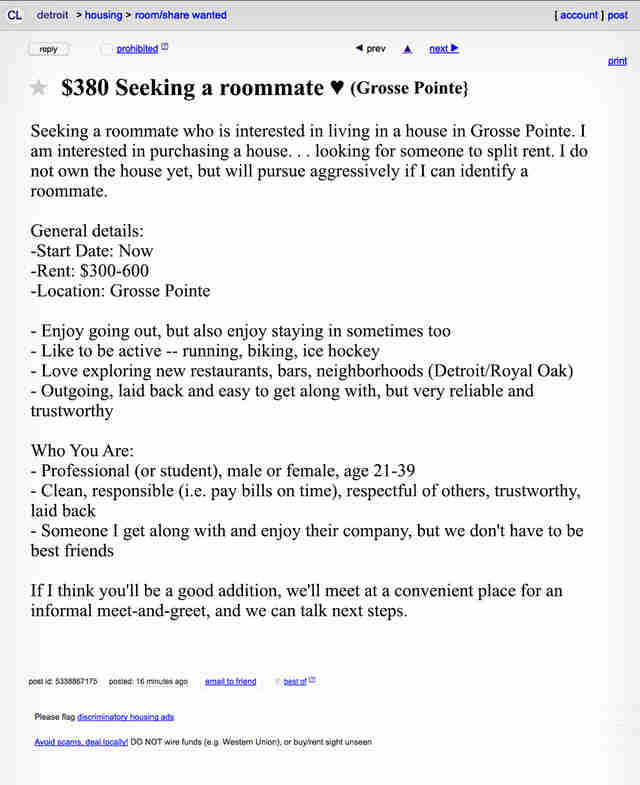 Adult craigs list in detroit