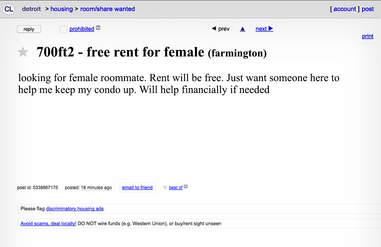 The Creepiest Weirdest Roommate Ads On Detroit Craigslist Thrillist