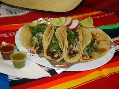 Tacos at La Mexicana Bakery & Taqueria