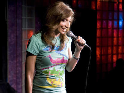 Chelsea Peretti comedian performing at The Velveeta Room in Austin, Texas