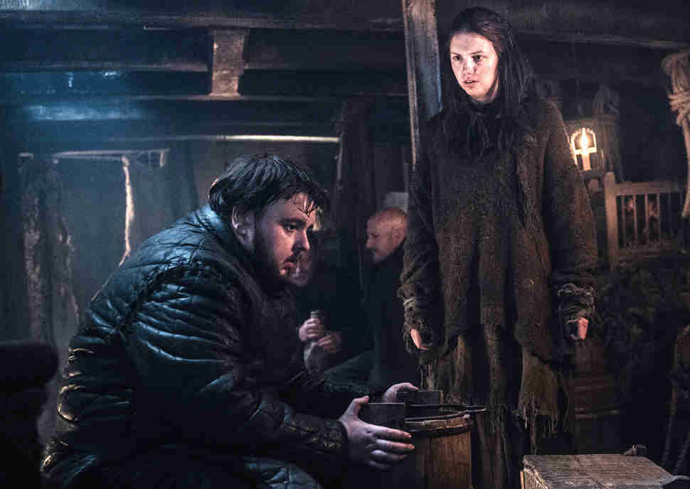 Samwell and Gilly HBO Game of Thrones