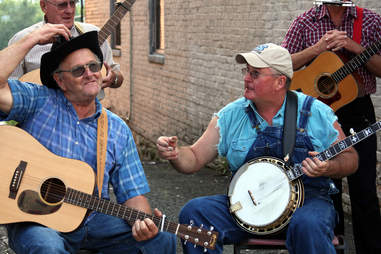 banjo players mount airy north carolina