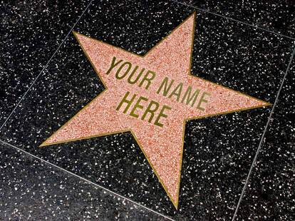 hollywood star street sign your name here