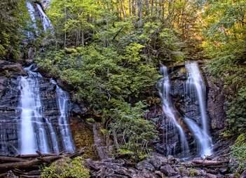 sautee nacoochee, ga waterfall
