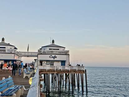 Malibu Farm dock cafe water sunset
