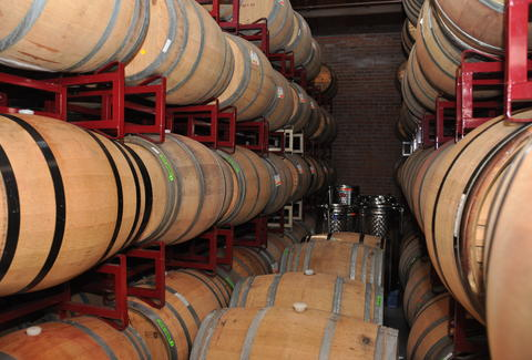 Wine Barrels at Urban Legend Cellars