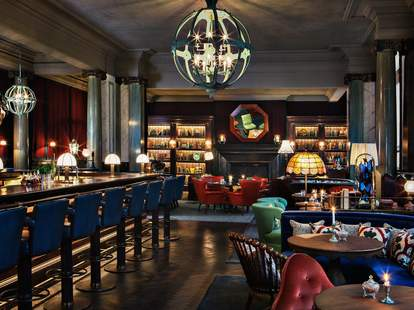 interior of scarfes bar in london