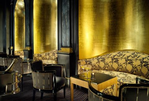 the beaufort bar in london black and gold
