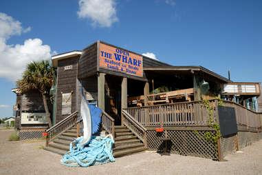 the wharf on texas coast