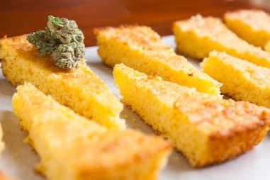 Marijuana cornbread edibles