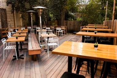 patio of sparrow bar and kitchen