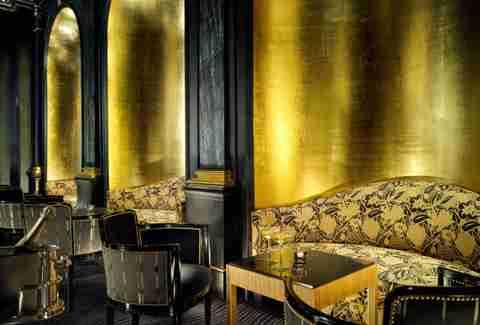beaufort bar black and gold interior london england