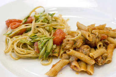 Varied whole grain pasta