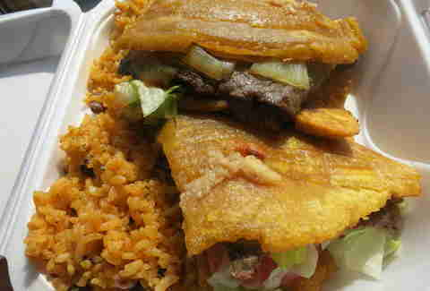 Steak jibarito from La Bomba in Chicago