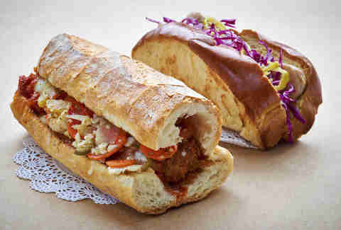 Meatball sub from Nonna's Sandwiches and Sundries in Chicago
